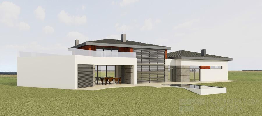 architektura dom jednorodzinny korbielów projekt architektury 1-2