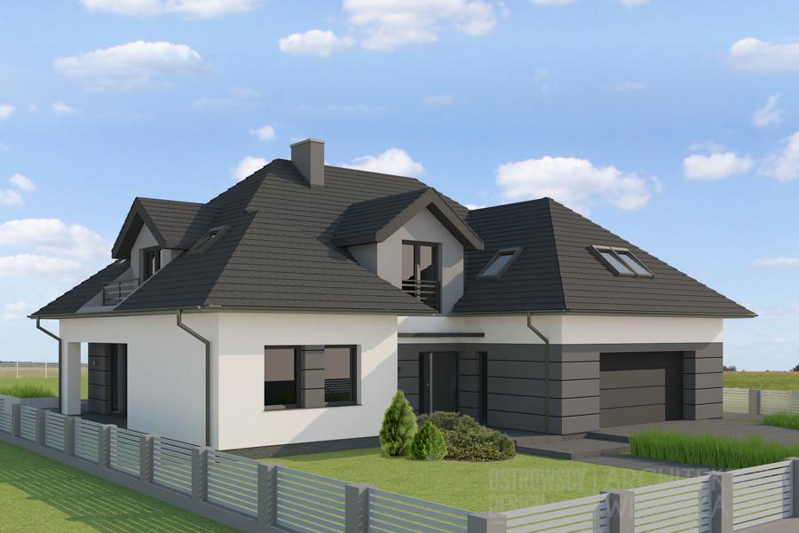 architektura dom jednorodzinny pod poznaniem projekt elewacji 1