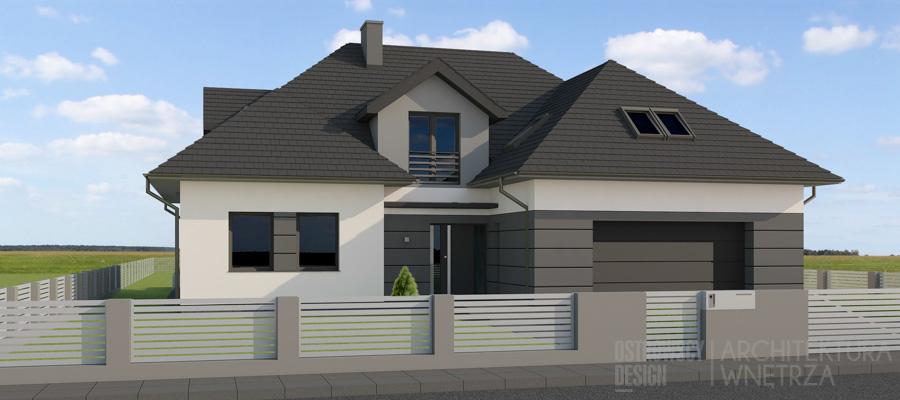 architektura dom jednorodzinny pod poznaniem projekt elewacji 2-2