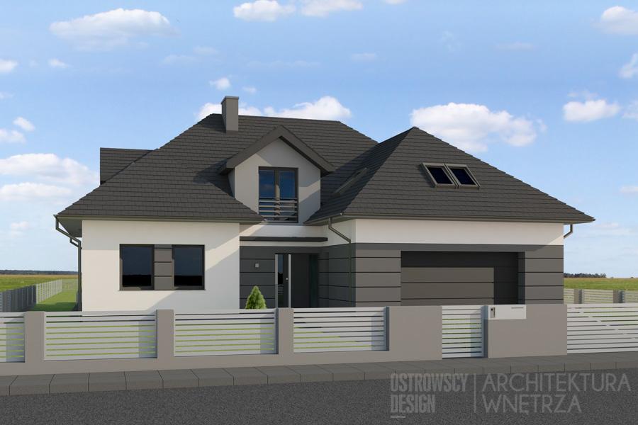 Domu Jednorodzinny Szczytniki Projekt Elewacji Ostrowscy Design