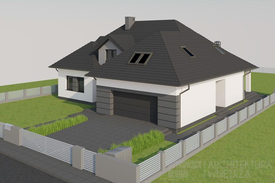 architektura dom jednorodzinny pod poznaniem projekt elewacji 3