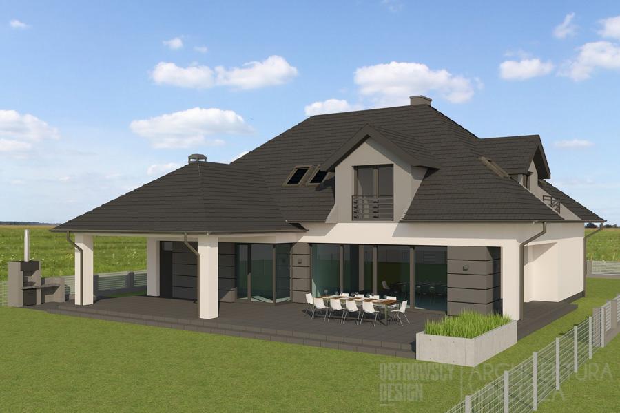 architektura dom jednorodzinny pod poznaniem projekt elewacji 4