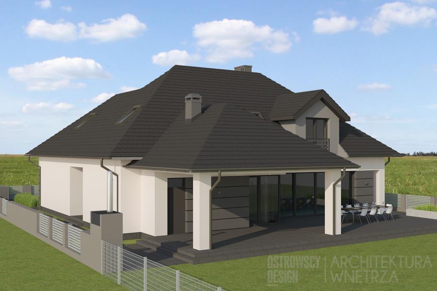 architektura dom jednorodzinny pod poznaniem projekt elewacji 5