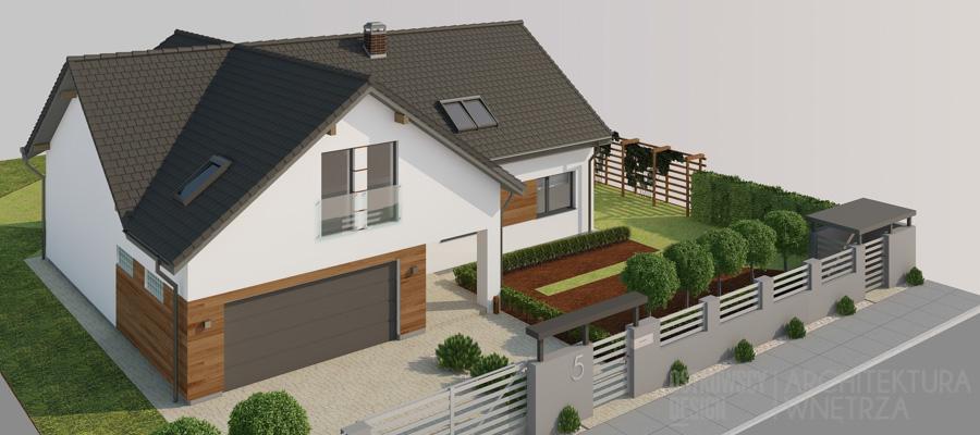 architektura dom jednorodzinny swarzędz projekt elewacji 1-2