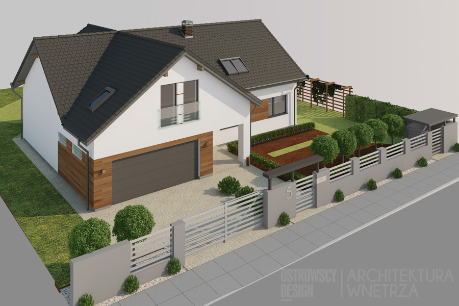 architektura dom jednorodzinny swarzędz projekt elewacji 1