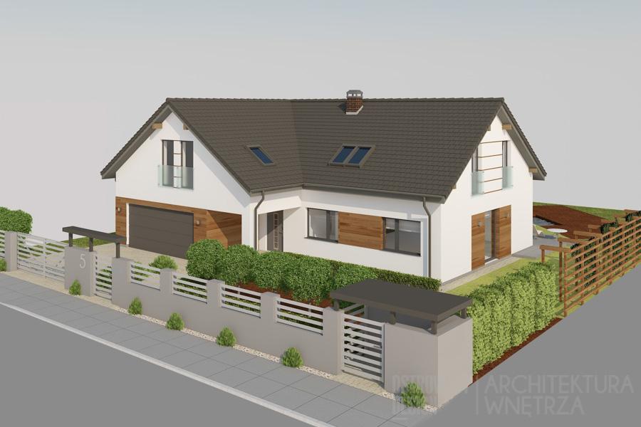 architektura dom jednorodzinny swarzędz projekt elewacji 2