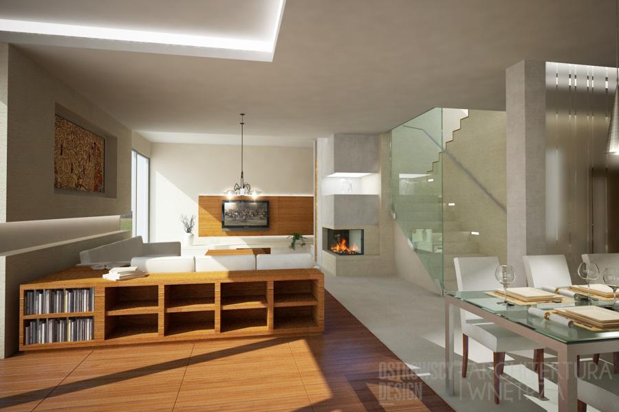 projekt wnętrz dom jednorodzinny luboń projekt 4