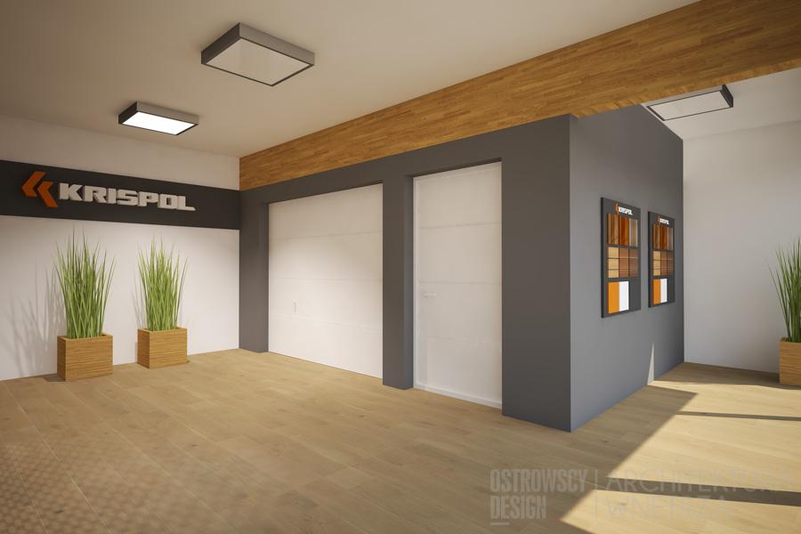 projekt wnętrz salon sprzedaży krispol sweden projekt 12
