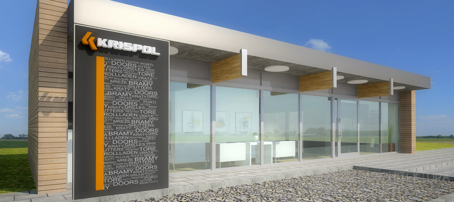 projekt wnętrz salon sprzedaży krispol sweden projekt 5-2