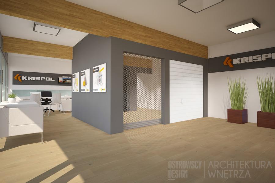 projekt wnętrz salon sprzedaży krispol sweden projekt 6