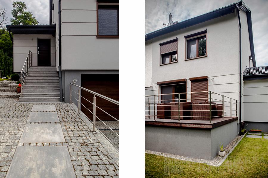 architektura bliżniak poznań podwójne projekt elewacji