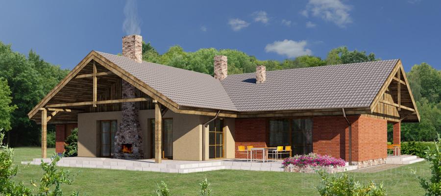 architektura dom jednorodzinny kórnik projekt architektury 1-2