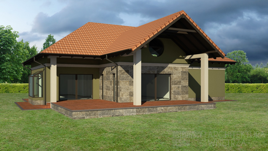 architektura dom jednorodzinny mosina projekt elewacji 1