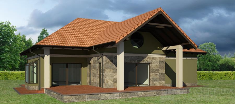 architektura dom jednorodzinny mosina projekt elewacji 2