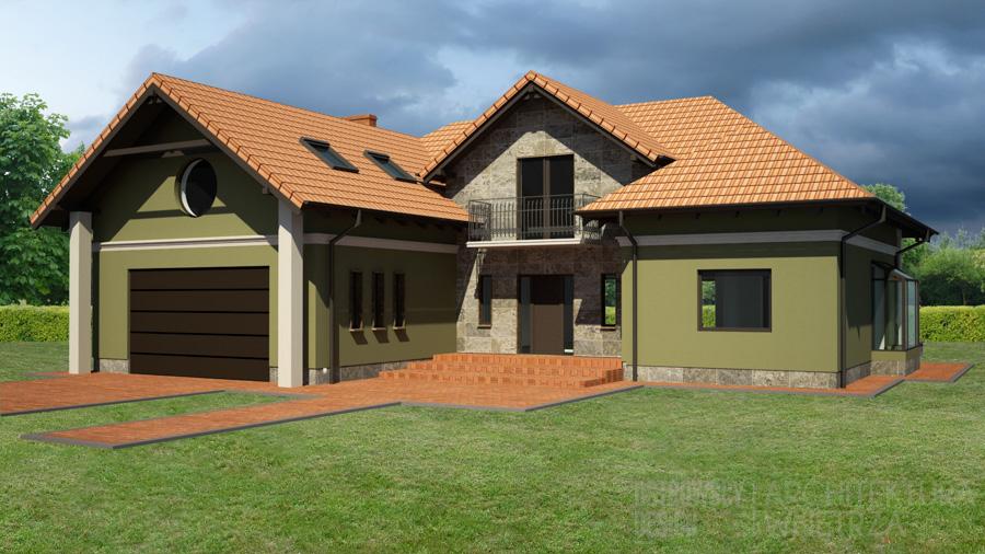 architektura dom jednorodzinny mosina projekt elewacji 3