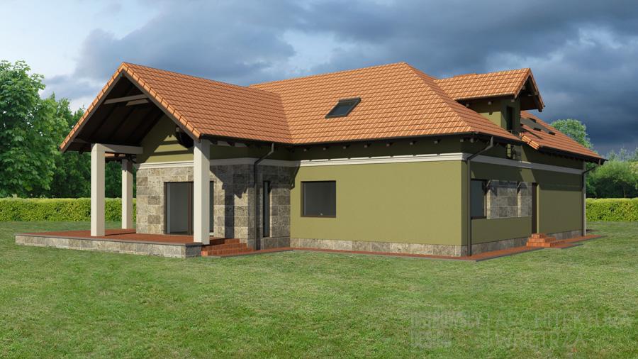 architektura dom jednorodzinny mosina projekt elewacji 4