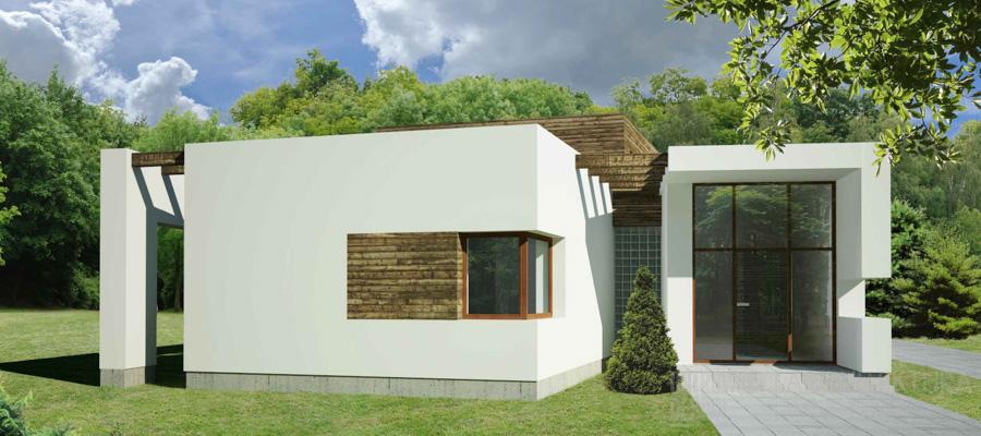 architektura dom jednorodzinny swarzędz projekt architektury 1-2