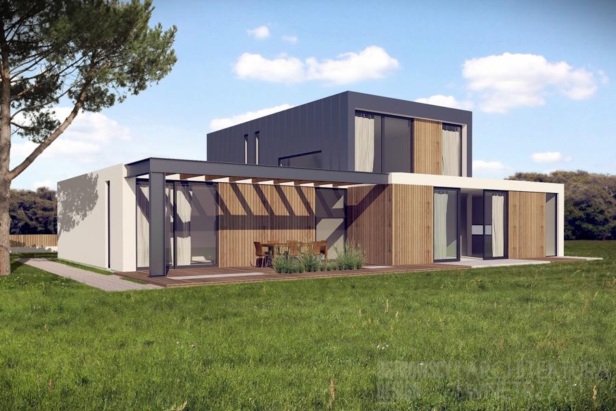 architektura dom jednorodzinny suchy las 2