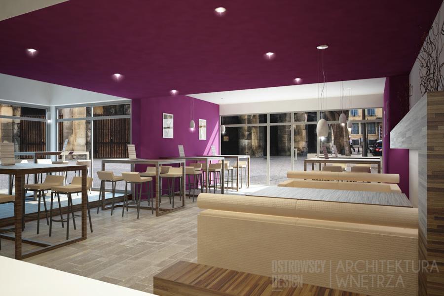 projekt wnętrz kawiarnia konin projekt 3