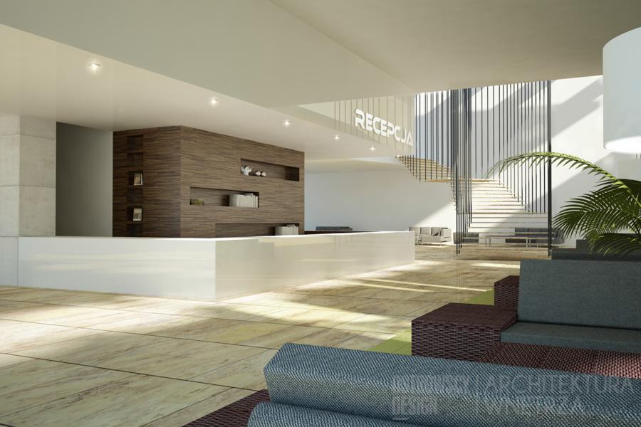 projekt wnętrz recepcja hotelu gorzów wielkopolski projekt 1